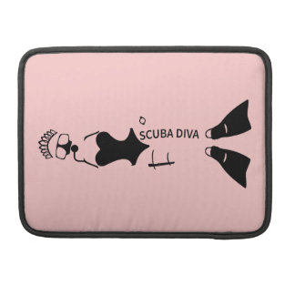 White Space Scuba Diva Sleeve For MacBook Pro