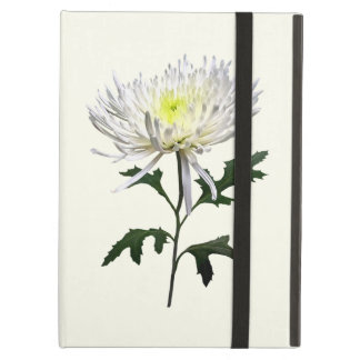White Spider Mum Cover For iPad Air