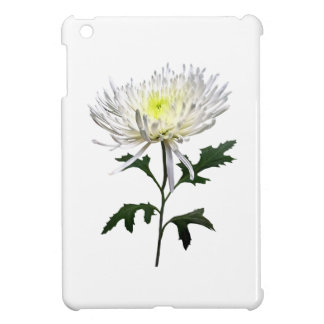 White Spider Mum iPad Mini Cover