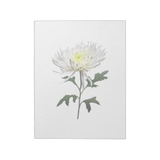 White Spider Mum Notepad