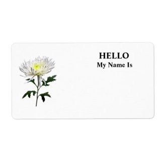White Spider Mum Shipping Label