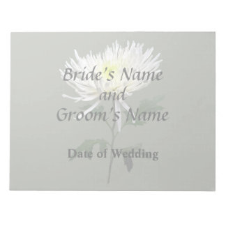 White Spider Mum Wedding Products Notepad