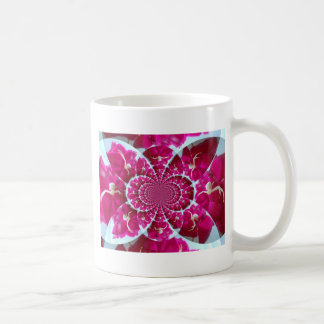 White Spider on a Beautiful Red Rose Coffee Mugs