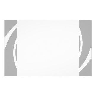 White spiral on light gray stationery paper