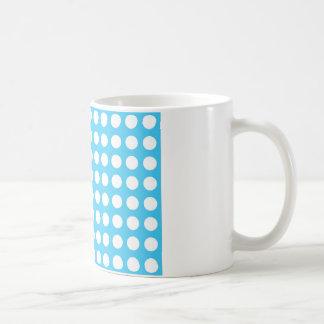 White Spots On Mid Blue Coffee Mug