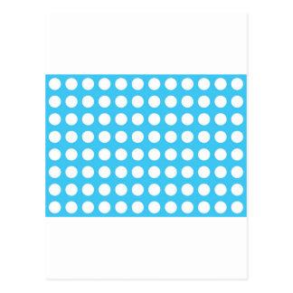 White Spots On Mid Blue Postcard