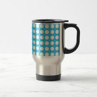White Spots On Mid Blue Travel Mug