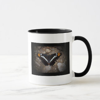 White Spotted Butterfly Mug