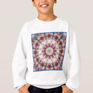 White spring blossoms 2.0.3, mandala style sweatshirt