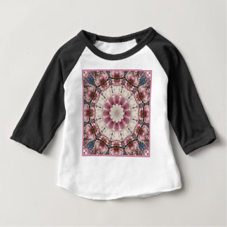 White spring blossoms 2.0, mandala style baby T-Shirt
