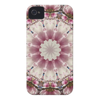 White spring blossoms 2.0, mandala style iPhone 4 covers