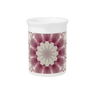 White spring blossoms 2.0, mandala style pitcher