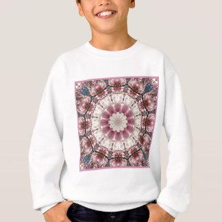 White spring blossoms 2.0, mandala style sweatshirt