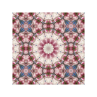 White spring blossoms 2.0, Nature Mandala Canvas Print
