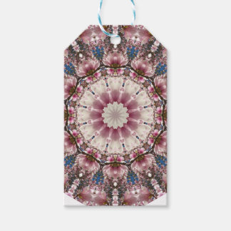 White spring blossoms 2.0, Nature Mandala Gift Tags
