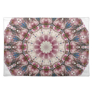 White spring blossoms 2.0, Nature Mandala Placemat
