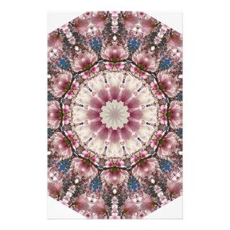 White spring blossoms 2.0, Nature Mandala Stationery