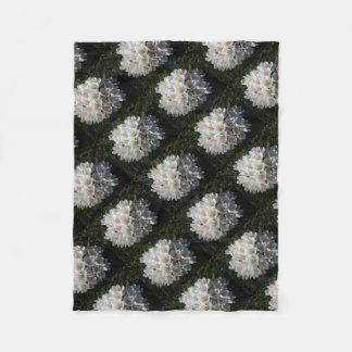 WHITE SPRING CROCUSES Fleece Blanket