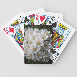 WHITE SPRING CROCUSES Pack Of Cards