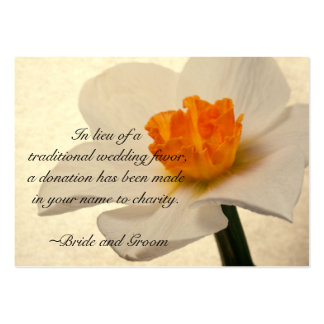 White Spring Daffodil Wedding Charity Card Pack Of Chubby Business Cards