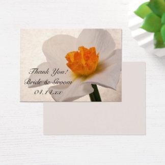White Spring Daffodils Wedding Favor Tags