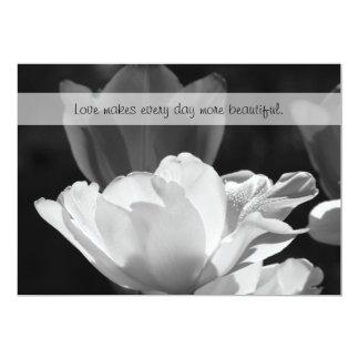 White Spring Tulip Vow Renewal 13 Cm X 18 Cm Invitation Card