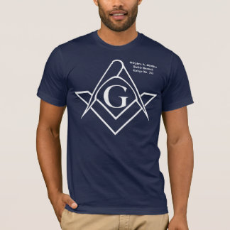 White Square & Compass Logo T-Shirt
