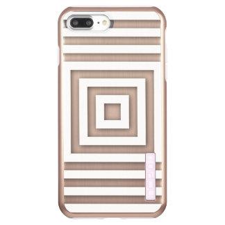 White Square Geometric Incipio DualPro Shine iPhone 8 Plus/7 Plus Case