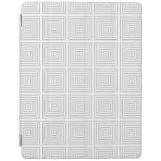 White Square Geometric iPad Cover