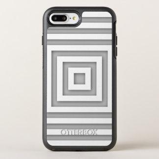 White Square Geometric OtterBox Symmetry iPhone 8 Plus/7 Plus Case
