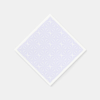 White Squiggly Squares Disposable Serviette