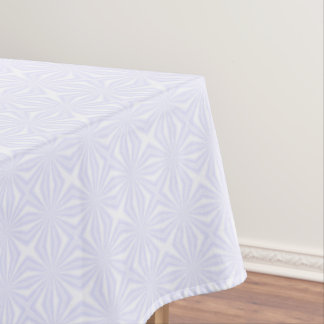 White Squiggly Squares Tablecloth