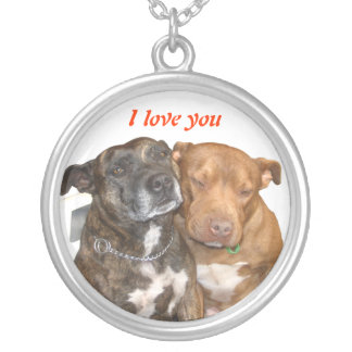 White Staffy I Love You Necklace