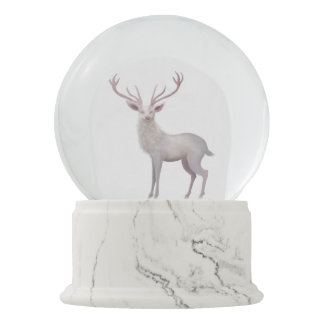 White Stag Snow Globes