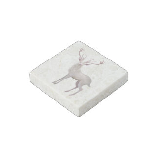 White Stag Stone Magnet