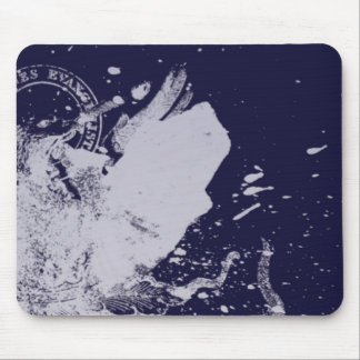 White Stamp Mouse Pad