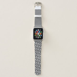White Standard Ribbon by Kenneth Yoncich Apple Watch Band