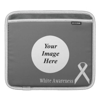 White Standard Ribbon by Kenneth Yoncich Sleeves For iPads
