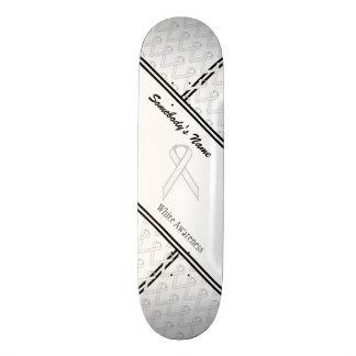 White Standard Ribbon Skateboard Deck