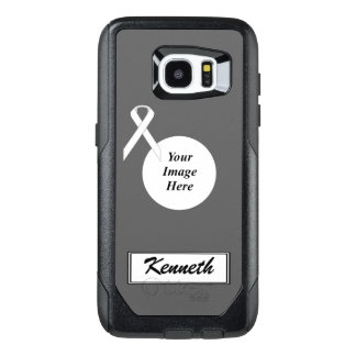 White Standard Ribbon Template by Kenneth Yoncich OtterBox Samsung Galaxy S7 Edge Case