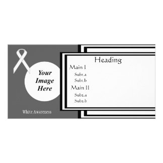 White Standard Ribbon Template Picture Card
