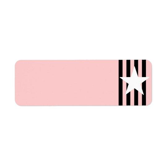 White Star Black Stripes Label