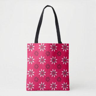White Star Flower Tote Bag