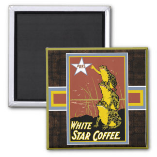 White Star Frog Coffee Magnet