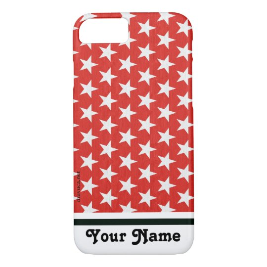 White star in red background iPhone 8/7 case