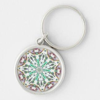 white-star, kaleidoscope keychain
