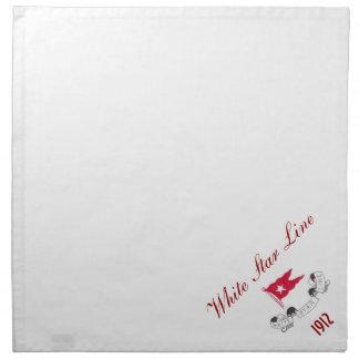 White Star Line - Dinner Napkins (White)