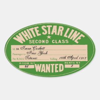 White Star Line (To customize) Oval Sticker