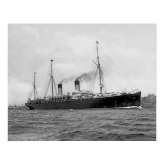 White Star Liner RMS Teutonic Print