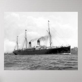 White Star Liner RMS Teutonic Print